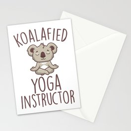 Koalafied Yoga Instructor Stationery Cards