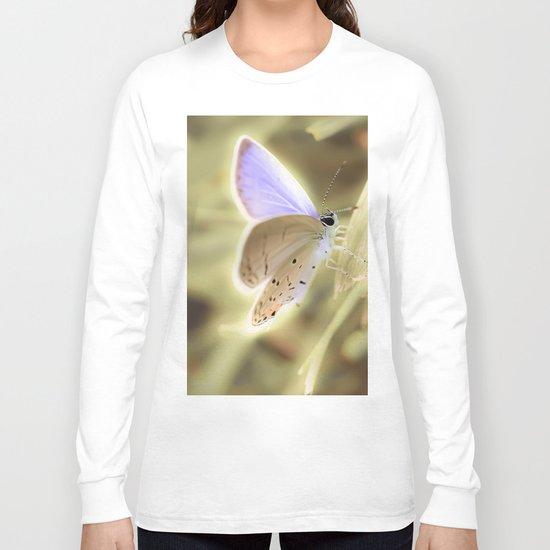 Purple Butterfly Long Sleeve T-shirt