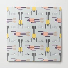 Scuba Divers Pattern Metal Print