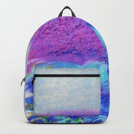 Dark Ocean Weather's Coming Oil Pastel Drawing Backpack