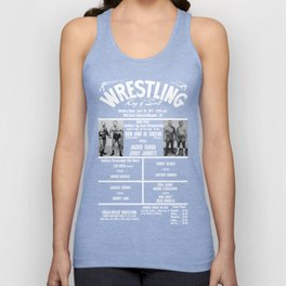 #14-B Memphis Wrestling Window Card Unisex Tank Top