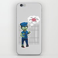 police iPhone & iPod Skins featuring Zombie Police by Jelo