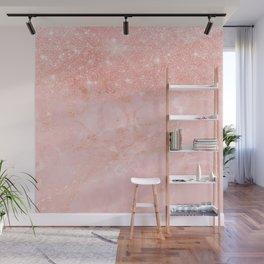 Blush Star Glitter on Marble Wall Mural