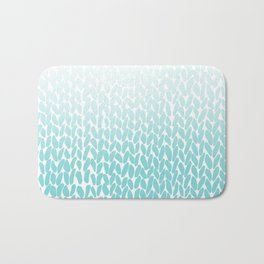 Hand Knitted Ombre Teal Bath Mat