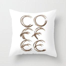 Coffee Stain Throw Pillow