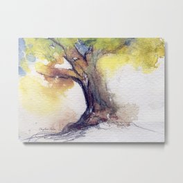 My Tree watercolor by CheyAnne Sexton Metal Print