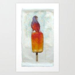Orange Canary Popsicle Art Print