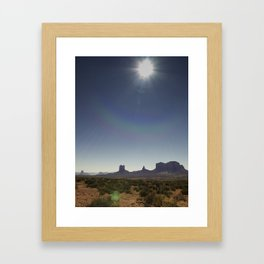 Deset_Monument Framed Art Print