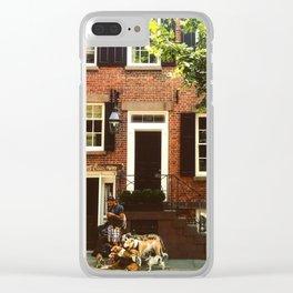 Dog Walker Clear iPhone Case