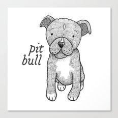 Dog Breeds: Pit Bull Canvas Print