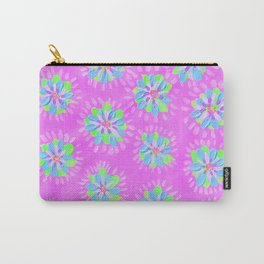 Neon Carnival Petal Rose Carry-All Pouch