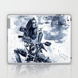 Biker Girl Laptop & iPad Skin