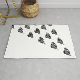 Butterfly swarm Rug