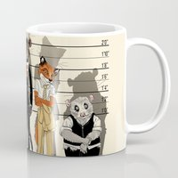 high Mugs featuring Unusual Suspects by castlepöp