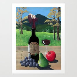 Life Is Wine Art Print