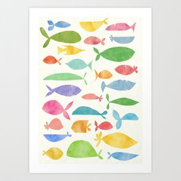 Fish family Art Print