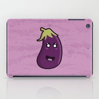 kawaii iPad Cases featuring Kawaii Eggplant by Nir P