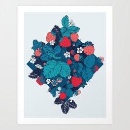 Very Strawberry Art Print