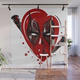 Bloody heart Wall Mural