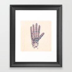 Hand Ribbon Framed Art Print