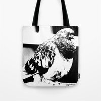 pigeon Tote Bags featuring Pigeon by Manford Holmes
