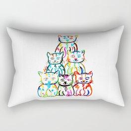 Pop-art Kitties Rectangular Pillow
