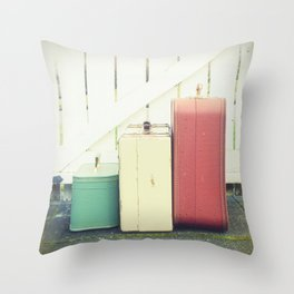 At the Gate Throw Pillow