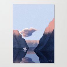 Winter fjord Canvas Print
