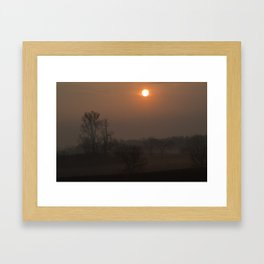 Hazy Valley Mornin'  Framed Art Print