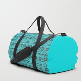 Knitted Christmas pattern retro 4 Duffle Bag