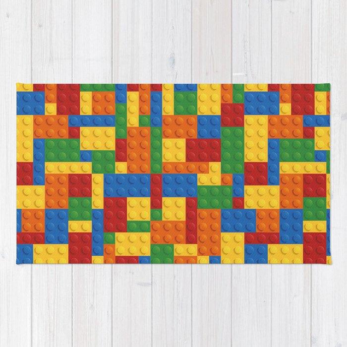 Lego bricks Rug by earthislife | Society6
