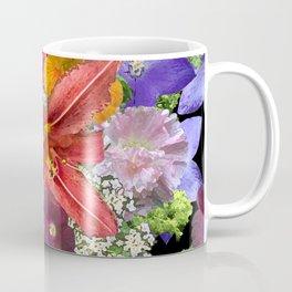 Newt in multi color floral Coffee Mug