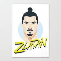zlatan Canvas Prints featuring I Am Zlatan by Capo Castillon