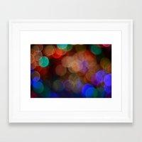 friday night lights Framed Art Prints featuring Friday Night Lights by Shawn Hughes