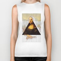 mona lisa Biker Tanks featuring MONA LISA by Ancient