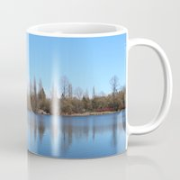 trout Mugs featuring Trout Lake by RMK Creative