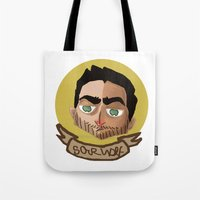 derek hale Tote Bags featuring Cutie Hale by thescudders