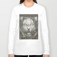 leopard Long Sleeve T-shirts featuring LEOPARD by Stefania Grippaldi - IDEAS FLY studio