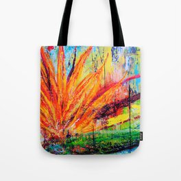 BIRD OF PARADISE/ABSTRACT Tote Bag