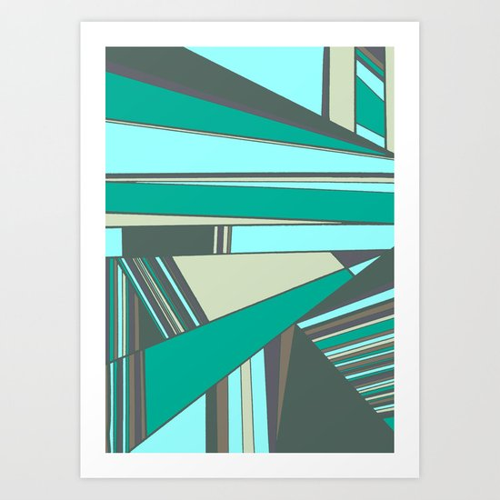 Triangles and Stripes Art Print