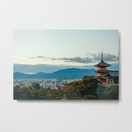 An Evening View of Kyoto Metal Print