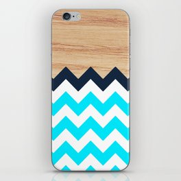 Chevron & Wood iPhone Skin