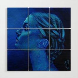 Blauw Wood Wall Art
