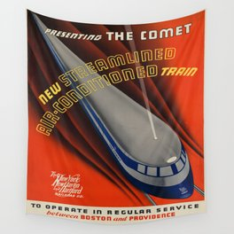 Vintage poster - The Comet Wall Tapestry