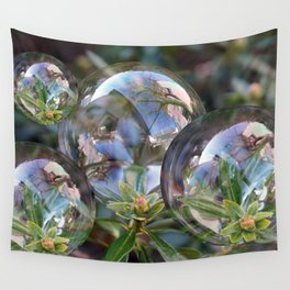 Flower bubbles Wall Tapestry