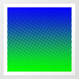 80's grade blue Art Print