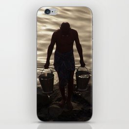 Collecting Water from the Ganges iPhone Skin