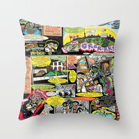 canada Throw Pillows featuring Vivita Spa KOMIX #1 by Tex Watt