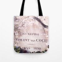 van gogh Tote Bags featuring Van Gogh by John Weeden