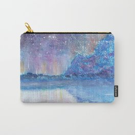 Watercolor Blue Island Carry-All Pouch